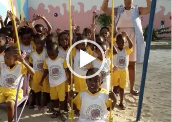 Quand les élèves de la maternelle les Perles  nous disent merci !